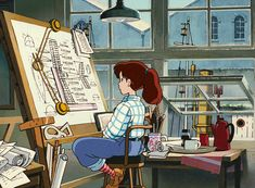 One of the most inspiring anime girls - Fio from Porco Rosso by Studio Ghibli Film Anime, Anime Gifs, Anime Manga, Anime Art, Manga Girl, Hayao Miyazaki, Studio Ghibli Films, Art Studio Ghibli, Totoro