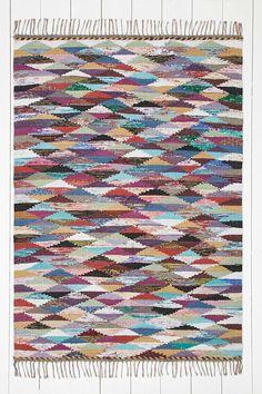 Tapis tissé à motifs losanges 5x7