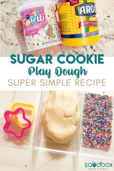 If you are looking for a fun and easy play doh recipe this is it. This sugar cookie play dough has three ingredients and smells amazing. Activities For 2 Year Olds, Motor Skills Activities, Holiday Activities, Hands On Activities, Therapy Activities, Toddler Activities, Learning Activities, Kids Learning, Easy Playdough Recipe