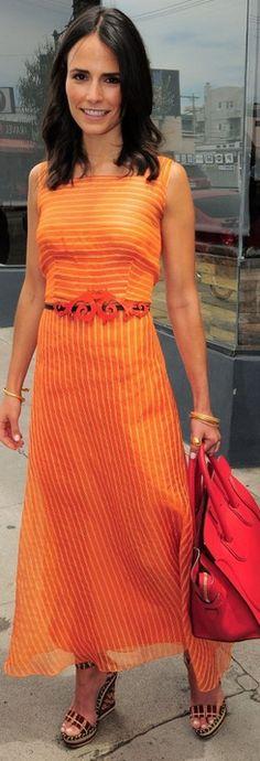 Jordana Brewster: Purse – Celine  Dress – Carolina Herrera  Shoes – Christian Louboutin