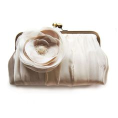 Brauttasche -Ivory/Champagne bridal clutch von Cuteandunique auf DaWanda.com
