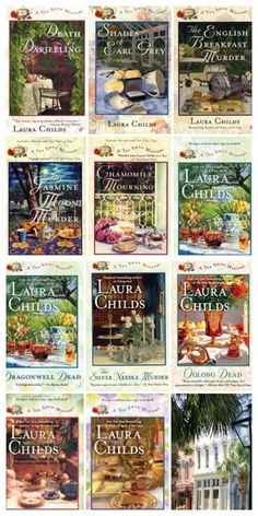 NEW 11 Books: TEA SHOP MYSTERIES Laura Childs Charleston SC Earl Grey Darjeeling