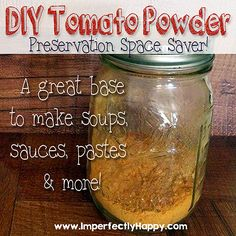 Making tomato powder.  An easy and space saving preservation tool for your tomato abundance.  Use it to make soups, sauces, pastes and more! | by ImperfectlyHappy.com