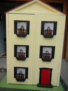 Hall's Lifetime Toys 3 story dollhouse with attic in back. In good condition! It was my dollhouse in the late 60's. Small corner missing on roof in back. Hall's Lifetime Toys from Tennessee circa 1968. Hall's Lifetime Toys was well known for their quality built doll furniture. | eBay!