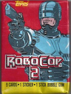 99 CENT PACK rare ROBOCOP 2 movie trading cards TOPPS 1990 non-sport SEALED