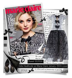"""""""Bella Heathcote on Marie Claire January 2016 cover  by sasoza"""" by sasooza ❤ liked on Polyvore featuring Chanel"""