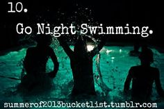 Skinny dipping under the stars