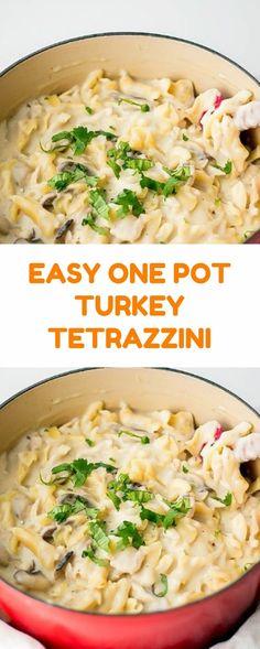 EASY ONE POT TURKEY TETRAZZINI