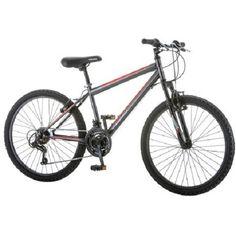 NEW Mountain Bike Inch Roadmaster Granite Peak Men's 18 Speed Bicycle Black Boys Mountain Bike, Mountain Bikes For Sale, Mountain Biking, Mountain Style, Hardtail Mtb, Adult Tricycle, Tire Tread, Buy Bike, Cool Bike Accessories