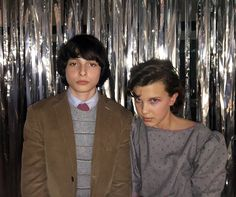 Stranger Things Eleven and Mike at the Snow Ball