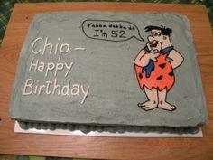 Fred Flintstone birthday cake.