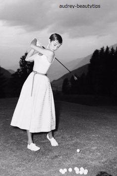 Time Tested Beauty Tips * Audrey Hepburn Forever *-オードリー・ヘップバーン 1954年ゴルフ