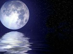 Moon kissing ocean...