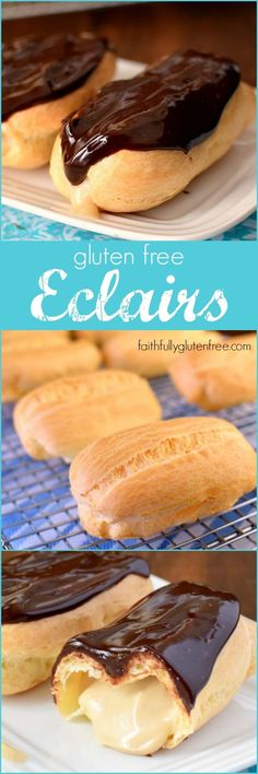 Gluten Free Eclairs – Faithfully Gluten Free Making Gluten Free Eclairs is much easier than you think! Mmm… think of all the flavor combinations you could make! Gluten Free Deserts, Gluten Free Sweets, Gluten Free Cakes, Foods With Gluten, Gluten Free Cooking, Dairy Free Recipes, Gluten Free Donuts, Gf Recipes, Patisserie Sans Gluten