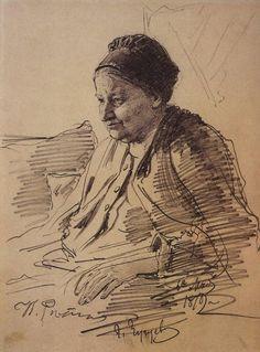 Ilya Repin - Portrait of T.S. Repina, mother of the artist