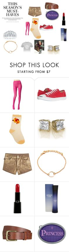 """Casual comfort 20"" by chrisone ❤ liked on Polyvore featuring Betsey Johnson, Converse, Zadig & Voltaire, Giorgio Armani, H&M, Will Leather Goods and Bling Jewelry"