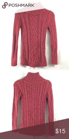 Old Navy red sweater Good condition thick sweater! 100% cotton. Bundle 3+ from me and save 15%, only pay shipping ONCE, and get a free gift! Old Navy Sweaters Cowl & Turtlenecks