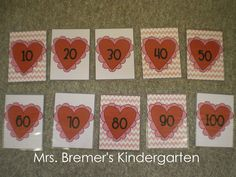 Valentine's Day activity: counting by 10s