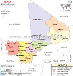 Political Map of Mali