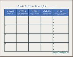 Free Printable Goal Planning Sheet