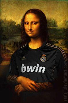 Mona Lisa by satisji on DeviantArt Soccer Memes, Soccer Guys, Football Memes, Real Madrid Shirt, Ronaldo Real Madrid, Real Madrid Football Club, Real Madrid Players, Clasico Real Madrid, Madrid Girl