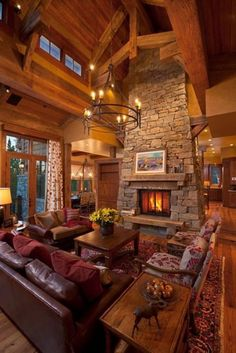 My Dream House Photo Gallery : theBERRY  Great open concept with the fireplace in the middle. High windows in the loft ceiling.