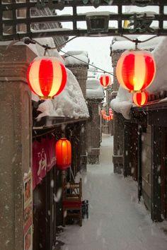 Snow lantern, Hokkaido,Japan