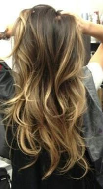 Example of Balayage.  Remember, it's supposed to look natural, so you will probably only go 2-3 shades lighter than your natural color. sun-kissed appearance to your hair and is not as bold as foil highlights. Typically the bangs or hair framing ones face are highlighted in this process and gradually appear lighter at the ends.