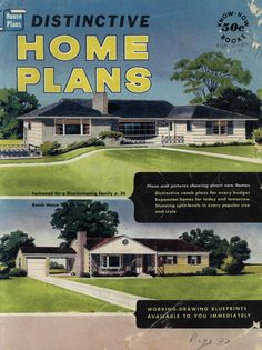 Distinctive Home Plans, 1957.  Home Plan Headquarters, Inc. From the Association for Preservation Technology (APT) - Building Technology Heritage Library, an online archive of period architectural trade catalogs. Select an era or material and become an architectural time traveler.