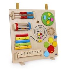 Keep restless hands occupied with this amazing table-top panel. Great for using fine motor skills. Nine features for a unique sensory experience.