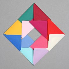 Coloured envelopes in a geometric formation