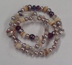 made with gemstones and glass beads