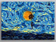 Starry Night Orca Killer Whale Wall Art Print Seascape Ocean Bold Home Decor Aja