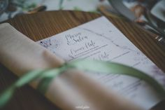 wedding menu card, minuta boda | Photo by Rafa Galán