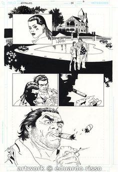 100 BULLETS ISSUE 94 PAGE 6 ART BY EDUARDO RISSO ( dizzy cordova AND LONO !!! ) 100 BALAS Comic Art
