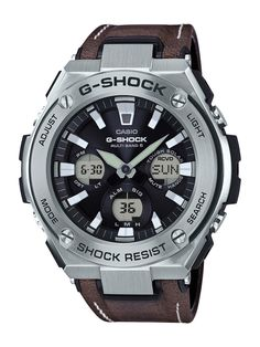 G-Shock GST-W130L and GST-W120L with leather band