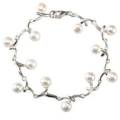 EXP Freshwater Pearl & Sterling Silver Bracelet EXP. $39.99