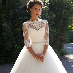 New Hot Sell White/Ivory Wedding Dresses Gown Stock Size 6-8-10-12-14-16