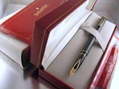 Sheaffer White Dot Targa fountain pen model #1003, matte black with gold plated trim and 14K .585 fine nib.