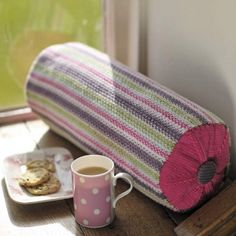 Brighten up a sofa with this classic bolster using a slip stitch pattern in sugary shades. Pattern £1.99
