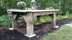 Barn beam table