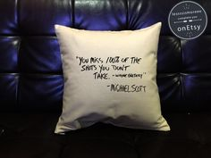 SALE !! The Office Pillow cover Handmade pillow, Michael Scott  Quote Pillow Cover, The Office TV Show cotton canvas pillow cover