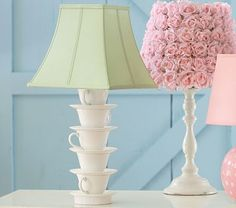 Make your own teacup and teapot lamp.