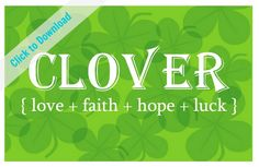 Free Clover Printable | TodaysCreativeBlog.net Melinda Tomasello