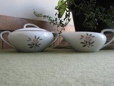 Noritake Rosales Cream and Sugar Bowl Set Vintage Dinnerware