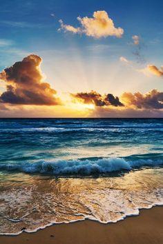 Sunrise, Waves, Landscapes, Sunrises, Ocean Waves, Beach Waves