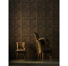 Traditional Aged Wood Panel Wallpaper - Oak