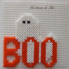 Boo Halloween hama beads by Les loisirs de Pat