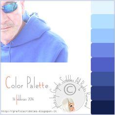 Color palette of 14 febberaio 2014 - un amore di color indaco http://graficscribbles.blogspot.it/2014/02/palette-colori-indaco.html