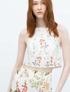 ¿Buscas un crop top? No te pierdas la colección de Zara primavera verano 2015